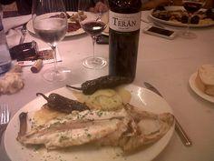 Rape al horno con Marqués de Terán Crianza en el restaurante Pedralbes de Madrid
