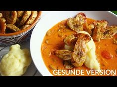 Okra Groundnut Soup, Fufu & Plantain - Wohlfühlrezept | vegan - YouTube