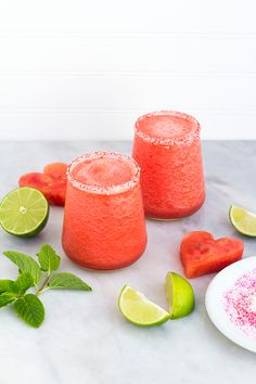 Watermelon Margaritas. Yum!