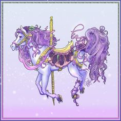One member of the Flower Carousel, and her name is Lilac. Because flowers are so diverse and all I decided to leave the option open for myself if I just want to do one or whatever. Another gift for. Horse Party Decorations, Carosel Horse, Horse Coloring Pages, Coloring Books, Horse Pattern, Painted Pony, Unicorn Art, All The Pretty Horses, Colorful Paintings