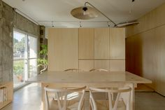 Gallery of House in Aokibashi / Shinta Hamada Architects - 18 Boundary Walls, Separating Rooms, Old Apartments, Central City, News Space, Apartment Interior, In The Heights, Dining Bench, Architecture