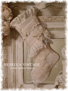 2014 Vintage Lace Heirloom Stocking - Christmas Stockings - A Gathering Place