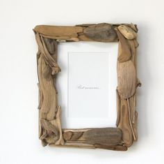 Driftwood Picture Frame , Rustic Beach Frame, Nautical Decor on Etsy, $32.00