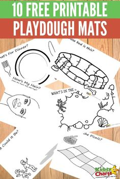 10 free printable playdough mats for fabulous kids fun!
