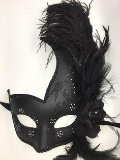 Black Venetian Mardi Gras Mask