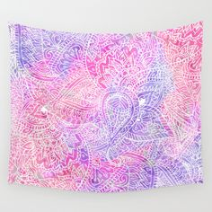 Pink+Purple+Paisley+Love+Wall+Tapestry+by+Girly+Trend+-+$39.00