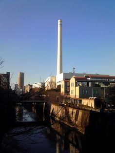 煙突(目黒川)