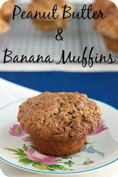 Peanut Butter & Banana Muffins www.veganmotherhubbard.com