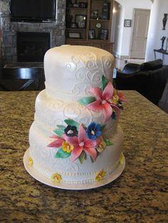 Megan's Creations... hawaiian wedding  cake