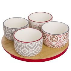 Snack Tray with 4 Patterned ...