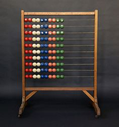 Early 20th Century Danish School Abacus | From a unique collection of antique and modern decorative objects at http://www.1stdibs.com/furniture/more-furniture-collectibles/decorative-objects/