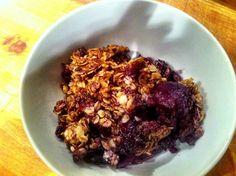 Spiced fruit crumble (vegan!)