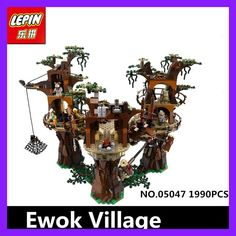 IN STOCK Free shipping 1990pcs Lepin 05047 Star Ewok Village Wars Building Blocks Juguete para Construir Bricks Toys 10236 Gifts