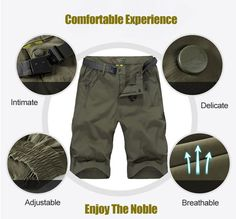 Customized Vesion Mens Cargo Shorts Water-repellent Quick Drying Breathable Casual Shorts