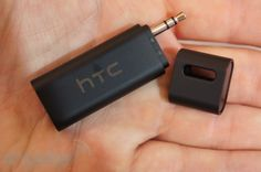 "HTC StereoClip - turn any car or house speakers with ""aux in"" into wireless speakers :)"