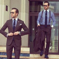 2019 Befitting and Classy Men Suit Fashion Latest Mens Fashion, Mens Fashion Suits, Mens Suits, Classy Suits, Classy Men, Brown Suits For Men, Suspenders Fashion, Gentlemen Wear, Mens Attire