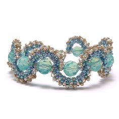 Video:Figure S Bracelet by  Barb Switzer.  Free from Beaducation.  #Seed #Bead #Tutorials