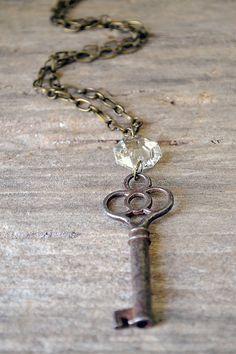 The Princess Key  Vintage Skeleton Key Necklace  by Keytiques