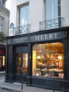 Meert, Paris, France  Categories:    Bakeries,  Specialty Food    [Edit]   16 rue Elzévir  75003 Paris   Neighborhoods: Marais Nord, Marais, 3ème    01 49 96 56 94   http://www.meert.fr/meert-adresses…   Nearest Transit Station: Saint-Paul,   Saint-Sébastien - Froissart,   Chemin Vert      More Information   Hours:  Tue-Fri 10:30 am - 7 pm  Sat 11 am - 7 pm  Sun 11:30 am - 1:30 pm  Sun 2 pm - 7 pm  Price Range: €€€