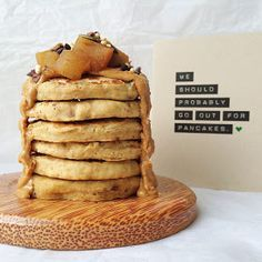 Naturally Meghan | A vegan lifestyle and recipe blog: Gluten-Free Vegan Protein Pancakes with Cinnamon Poached Apple