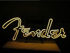 Fender Guitar Neon Sign