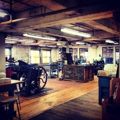 The Printing Presses at Egg Press - I want this room