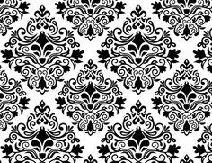 TC419 Tecido Arabesco preto e branco 520