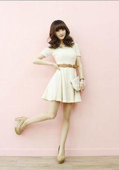 Cute white dress for teens
