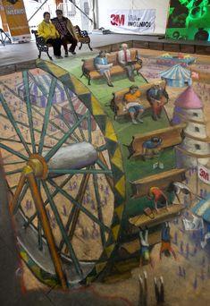 Kennt ihr sie, diese wahnsinnigen Kunstwerke in den Fußgängerzonen? Wir sind begeistert!