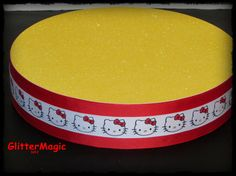 Hello Kitty in Red and Yellow  Display  Stand  by GlitterMagic23s