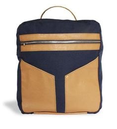 Patton Leather & Canvas Backpack by Ian James New York on Scoutmob Shoppe