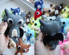 Flying Dragon Felt Plush toy/pin/brooch/charm/keychain by KaeriART