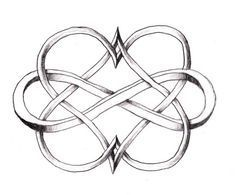 Celtic heart tattoos | Double heart and infinity sign | Celtic Tattoo