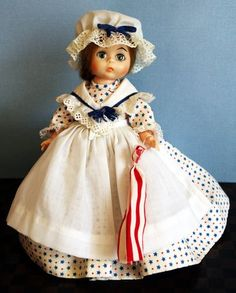 "Madame Alexander 8"" Betsy Ross doll in complete outfit.  Used dolly with lots of nice features. At my ebay store with a real low starting bid now!"