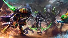 Download Heroes of the Storm Game Art Zeratul Illidan Abathur Murky Jaina Sonya by Nahnahnivek 3840x2160
