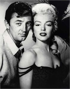 Robert Mitchum and Marilyn Monroe