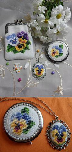 Amor - Perfeito em Ponto Cruz Tricô Passo a Passo -   /   Love - Perfect in Cross Stitch Knitting Step by Step -