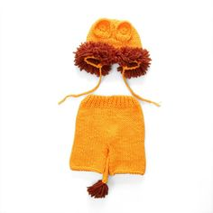 Newborn Crochet Animal Themed Costume for Photography Session