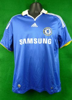 Chelsea FC Adidas Home Shirt 2008-2009 Season Size Adult Medium CFC  Collectable Chelsea Fc 599fe5b32