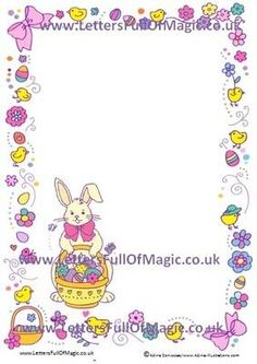 Easter bunny reward chart colour in by www for Letter to easter bunny template