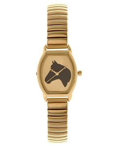 This could be an Annabel bday present! ASOS Polished Bangle Watch With Horse Print $34.48