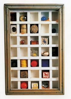 Assemblage art by Joseph Cornell--try making your own or search around vintage shops for something similar! Found Object Art, Art Object, Collage Maker, Collage Art, Arte Assemblage, Joseph Cornell Boxes, Box Art, Art Boxes, Sculpture