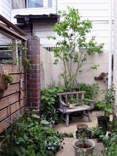 ガーデン施工事例 / ガーデン リフォーム、狭い、日陰 庭、ジャンク、ガーデニング