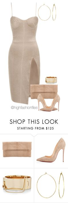 """""""Pop The Cork"""" by highfashionfiles ❤ liked on Polyvore featuring Primary, Christian Louboutin, Eddie Borgo and Phyllis + Rosie"""