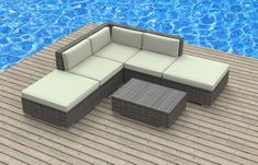 Look no further this outdoor wicker patio sectional sofa set will give any backyard that elegant sophisticated ultra-modern look. Great for entertaining and will definitely be the center of attenti...