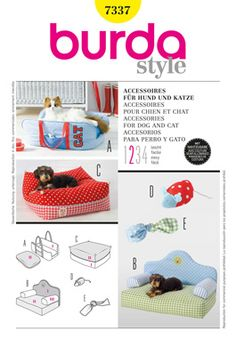Burda pattern 7337 dog bed