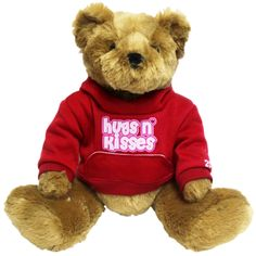 Valentine Red Hugs N' Kisses Bear, 12in Holiday Headquarters