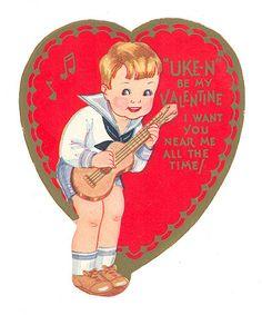 sweet old valentine w `ukulele