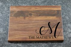wedding gifts Last Name Personalized Cutting Board, Monogram Custom Cutting Board, Wedding Gift, Engraved Cutting Board, Unique Wood Butcher Block Diy Cutting Board, Custom Cutting Boards, Engraved Cutting Board, Personalized Cutting Board, Butcher Block Cutting Board, Cheap Furniture Makeover, Diy Furniture Projects, Wood Projects, Engraved Wedding Gifts