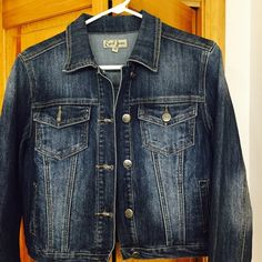 Jean Jacket Perfect condition. Worn a few times. Color is best shown in the last photo. No damages or stains or signs of use. Earl Jean Jackets & Coats Jean Jackets